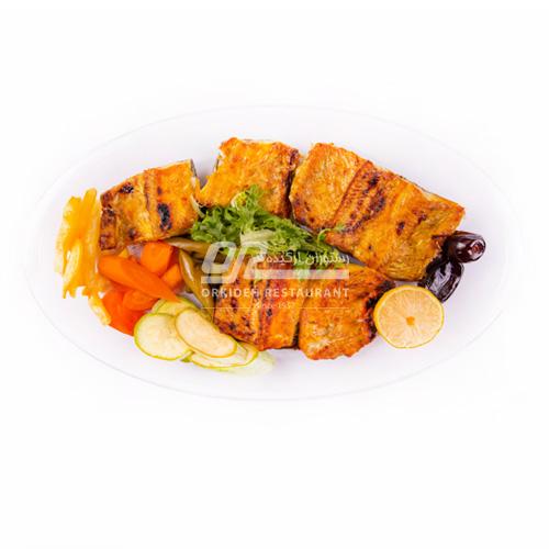 خوراک ماهی قزل آلا کبابی